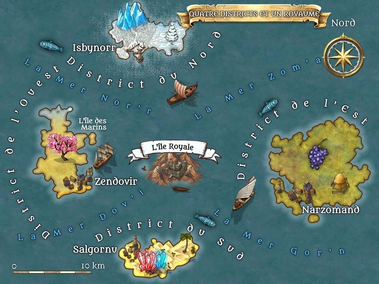 La survie d'une civilisation. Le cercle de feu - Liviu C Tudose - www.liviutudose.ro - Quatre districts et un royaume